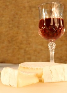 Camembert with a glass of sherry