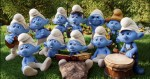A group of Smurfs in Smurf Village in in Columbia Pictures and Sony Pictures Animation's SMURFS 2.
