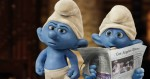 Grouchy (George Lopez) and Clumsy Smurf (Anton Yelchin) in Columbia Pictures and Sony Pictures Animation's SMURFS 2.