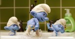 Clumsy (Anton Yelchin), Grouchy (George Lopez) and Vanity (John Oliver) in Columbia Pictures and Sony Pictures Animation's SMURFS 2.