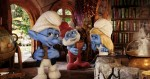 Narrator Smurf (Tom Kane), Papa Smurf (Jonathan Winters) and Smurfette (Katy Perry) in Sony Pictures Animation SMURFS 2.