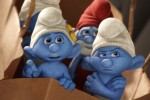 Vanity, Grouchy and Papa Smurf in Sony Pictures Animation SMURFS 2.