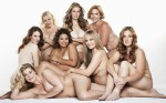 Studio portrait of nude women