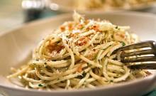 Špageti u umaku od pečenog povrća